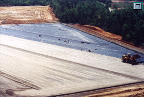 Installation of 60-mil HDPE Geomembrane and Geocomposite at a landfill site in the southeastern United States