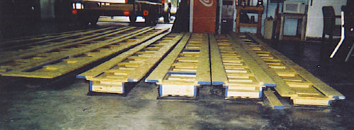 Fabrication of Concrete Protective HDPE Trench Liners.
