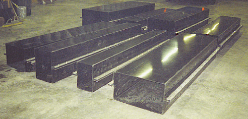 Fabrication of an electrical ductbank.