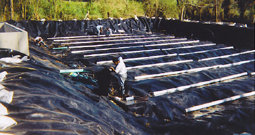 HDPE Geomembrane installed in Humane Society Septic-Field.