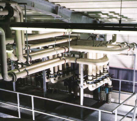 Typical installation of polypropylene pipe system.